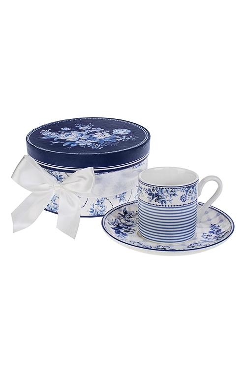 Набор для эспрессо Волшебные цветыПосуда<br>2-предм., 1 перс., керам. (чашка 90мл), в подарочной упаковке<br>