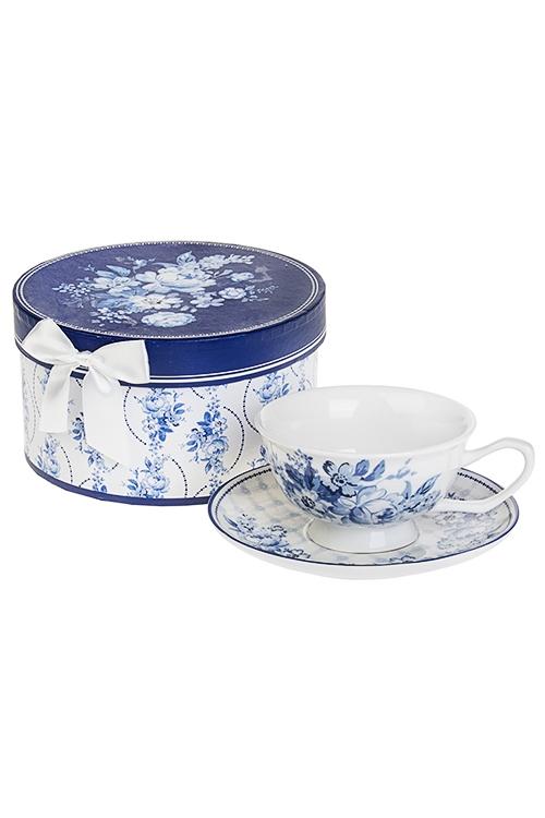 Чайная пара Волшебные цветыПосуда<br>Керам. (чашка 240мл), в подарочной упаковке<br>