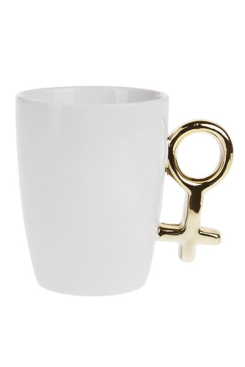 Кружка Женский полКружки и бокалы<br>250мл, доломит. керам., бело-золот.<br>