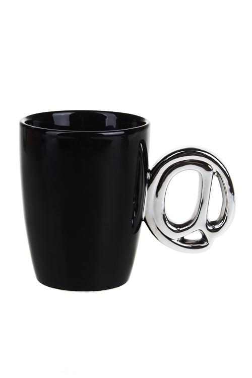 Кружка Интернет-собачкаКружки и бокалы<br>250мл, доломит. керам., бело-серебр.<br>
