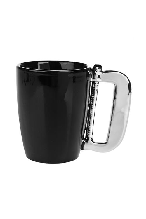 Кружка ПилаКружки и бокалы<br>350мл, керам., черно-серебр.<br>