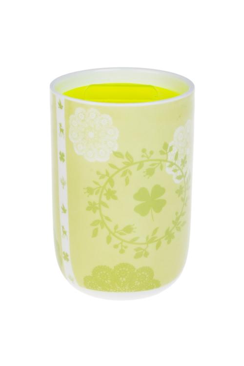 Кружка с крышкой ВеснаКружки с крышками и банки Mason Jar с ручкой<br>300мл, керам., пластм., салат.<br>