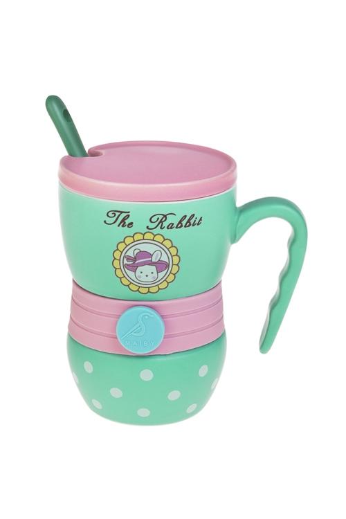 Набор чайный ЛазурьПосуда<br>1 перс., керам., силикон (кружка с крышкой 350мл, ложка)<br>