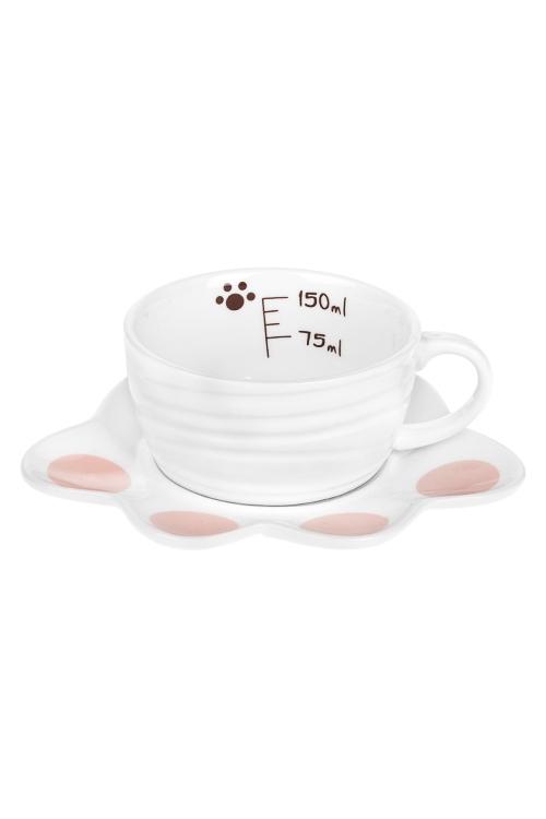 Чайная пара Кошачья лапкаПосуда<br>керам. (чашка 180мл)<br>