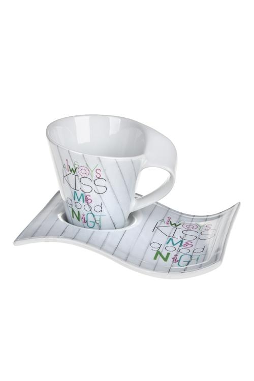 Чайная пара ПоцелуйПосуда<br>керам. (чашка 180мл)<br>