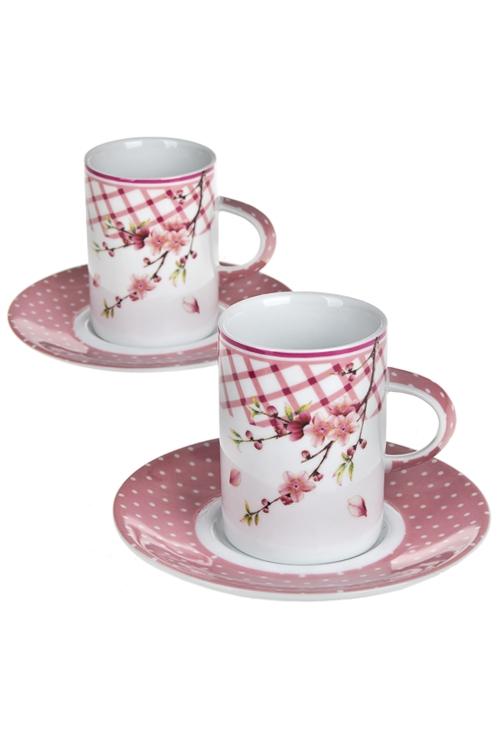 Набор для эспрессо ВеснаНаборы кружек<br>4-предм., 2 перс, фарфор (чашки 90мл), в подар. упак.<br>