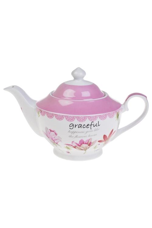 Чайник заварочный Весенний садЕмкости для сыпучих и для жидкостей<br>1000мл, керам.<br>