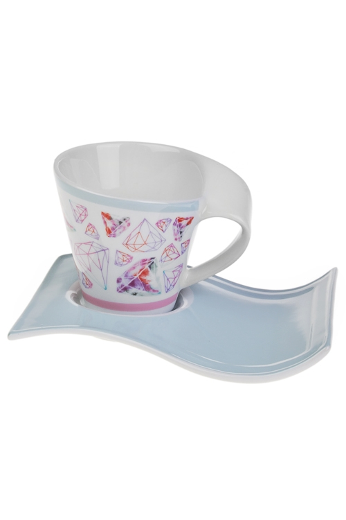 Чайная пара Бриллиантыкерам. (чашка 180мл)<br>