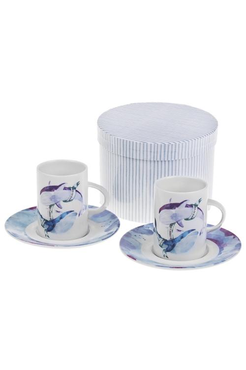 Набор для эспрессо КитыПодарки ко дню рождения<br>2 перс, керам. (чашки 160мл), в подар. упак.<br>