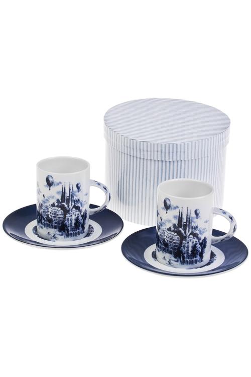 Набор для эспрессо Волшебный городПосуда<br>2 перс, керам. (чашки 160мл), в подар. упак.<br>