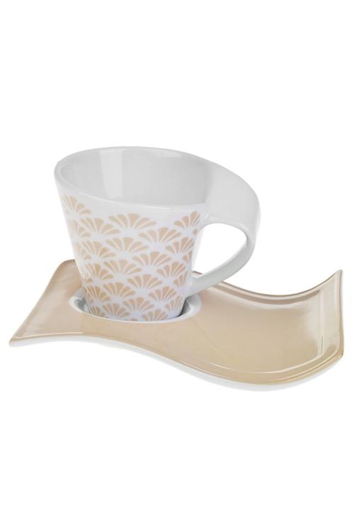 Чайная пара БежЧайные пары<br>керам. (чашка 180мл)<br>