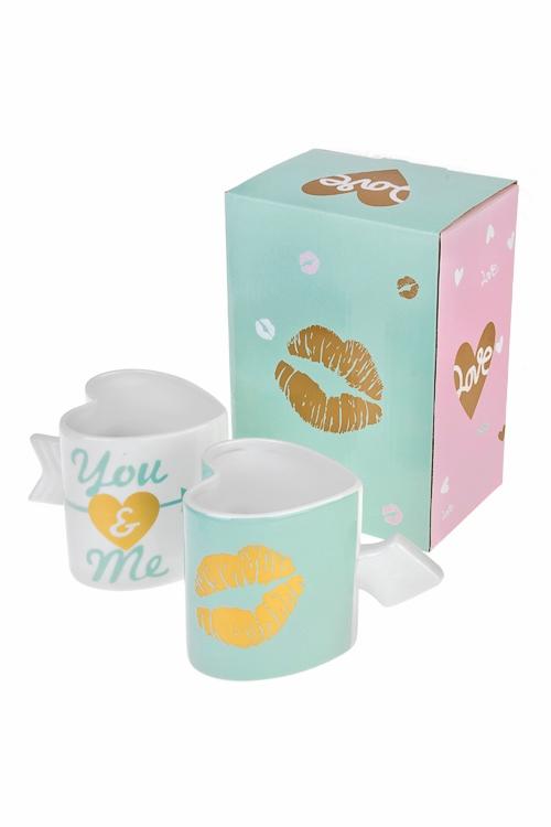 Набор подарочный ПоцелуйНаборы кружек<br>2-предм., 2 перс., керам. (кружки 320мл), в подар. упак.<br>