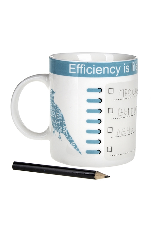 Кружка РасписаниеКружки и бокалы<br>450мл, фарфор, с карандашом<br>