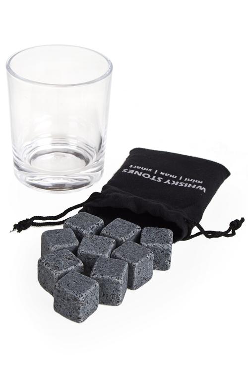 Набор для виски Крепкий пареньКружки и бокалы<br>(стакан, камни для виски)<br>