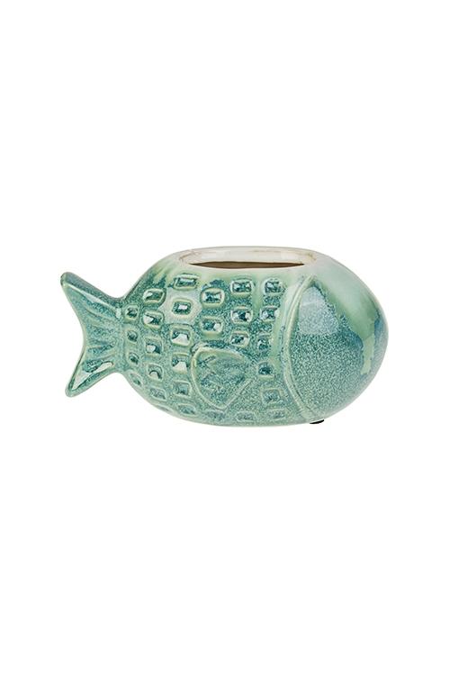 Кашпо для цветов РыбкаКашпо для цветов<br>17.5*9.5*9см, керам.<br>