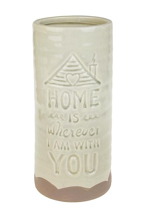 Ваза для цветов Милый домКерамические вазы и кашпо<br>Выс=23см, керам., беж.<br>