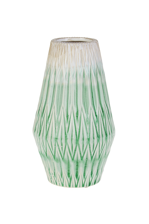 Ваза для цветов Морские глубиныКерамические вазы и кашпо<br>Выс=19.5см, керам., бирюз.<br>