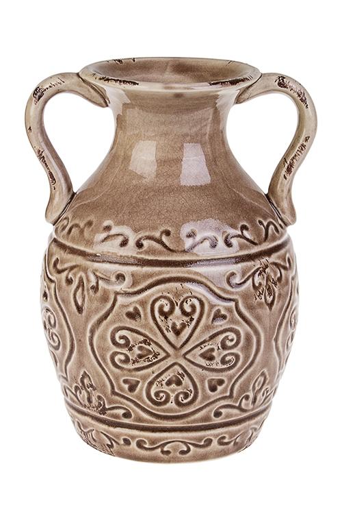 Ваза для цветов АмфораКерамические вазы и кашпо<br>Выс=22см, керам., беж.<br>
