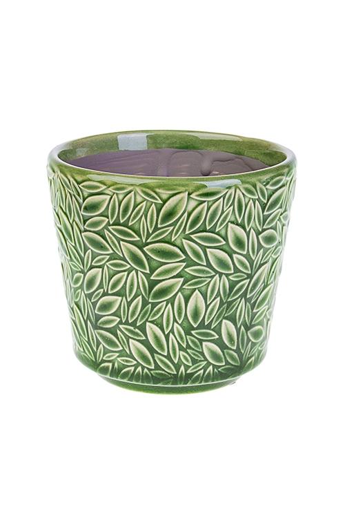 Кашпо для цветов Мозаика из листьевИнтерьер<br>10.5*8.5*10см, керам.<br>