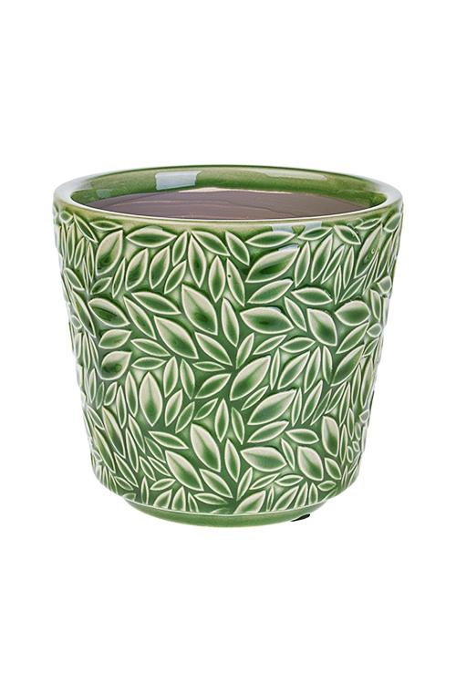 Кашпо для цветов Мозаика из листьевИнтерьер<br>13*10*12см, керам.<br>