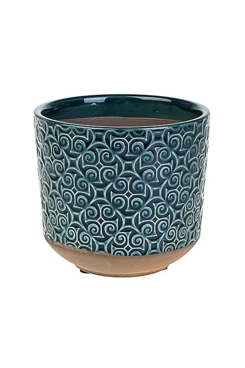 Кашпо для цветов ЗавиткиКерамические вазы и кашпо<br>10.5*8.5*10см, керам.<br>
