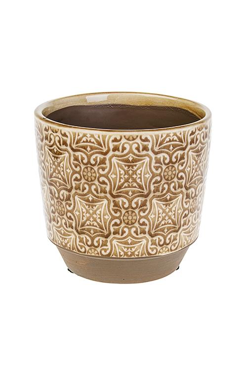 Кашпо для цветов Древний орнаментИнтерьер<br>10.5*8.5*10см, керам.<br>