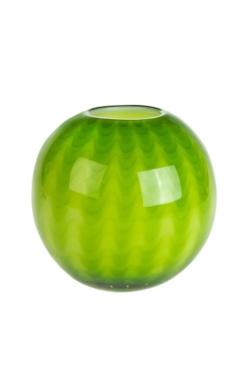 Ваза для цветов АрбузикИнтерьер<br>Выс=18см, стекло, салат.<br>