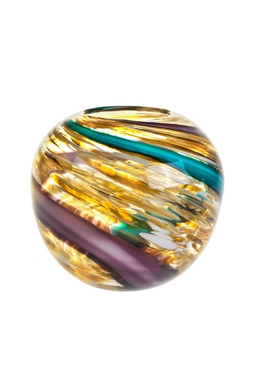 Ваза для цветов Цветовой потокИнтерьер<br>Выс=18.5см, стекло<br>
