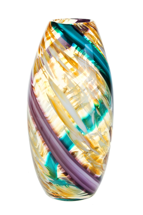 Ваза для цветов Цветовой потокСтеклянные вазы и кашпо<br>Выс=33см, стекло<br>