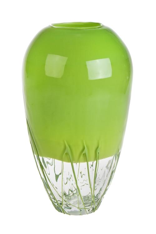 Ваза для цветов МедузаСтеклянные вазы и кашпо<br>Выс=28см, стекло, салат.<br>
