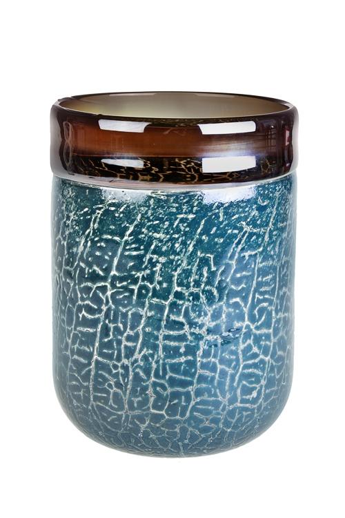 Ваза для цветов Морская пенаИнтерьер<br>Выс=22.5см, стекло, голубо-серебр.<br>