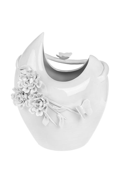 Ваза для цветов Цветочные объятияСтеклянные вазы и кашпо<br>Выс=24см, фарфор, белая<br>
