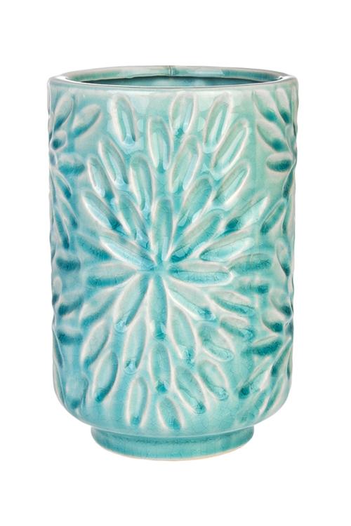 Ваза для цветов АстрыКерамические вазы и кашпо<br>Выс=20см, керам., голубая<br>