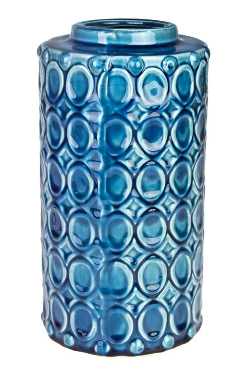 Ваза для цветов МедальоныКерамические вазы и кашпо<br>Выс=28см, керам., синяя<br>
