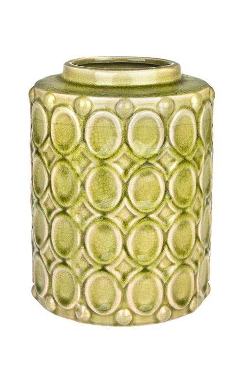 Ваза для цветов МедальоныКерамические вазы и кашпо<br>Выс=22см, керам., зеленая<br>