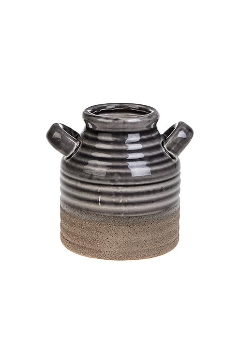 Ваза для цветов СтамносКерамические вазы и кашпо<br>Выс=12.5см, керам., серая<br>