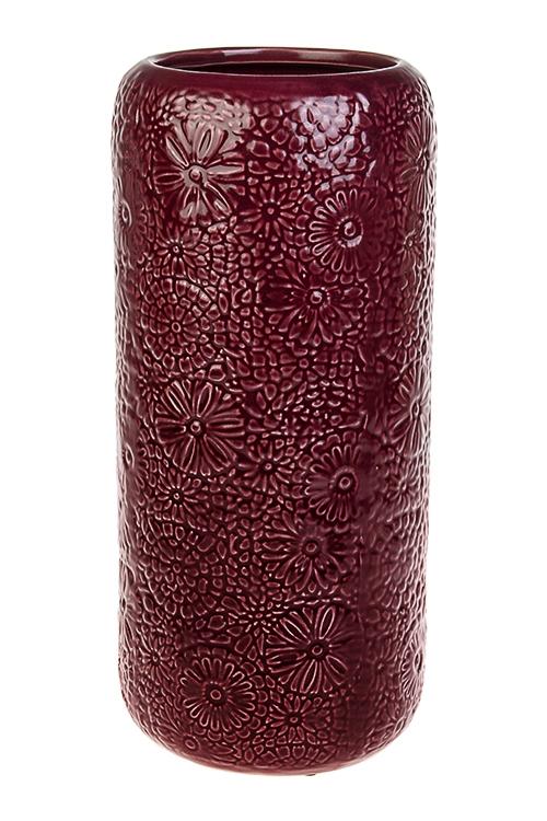 Ваза для цветов СтрастьИнтерьер<br>Выс=34см, керам., борд.<br>