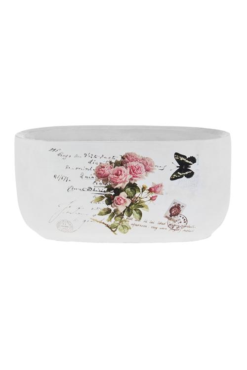 Кашпо для цветов РозыКашпо для цветов<br>24*13.5*12см, цемент<br>