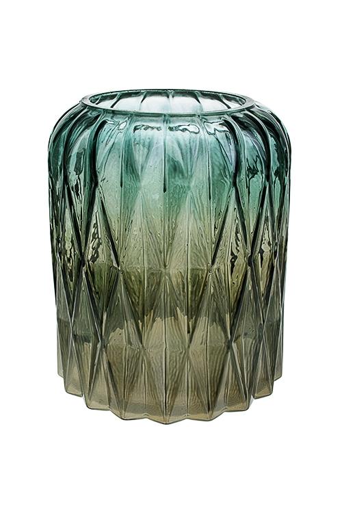 Ваза для цветов ГраниИнтерьер<br>Выс=17.5см, стекло, серо-зеленая<br>