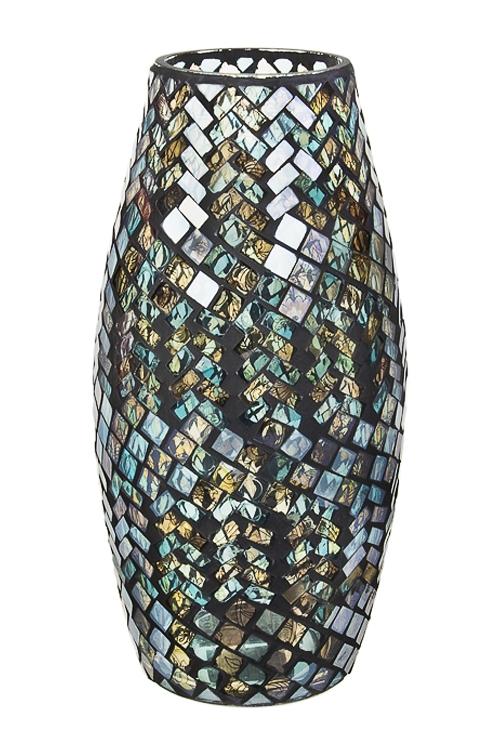 Ваза для цветов Мозаичный узорИнтерьер<br>Выс=30см, стекло<br>