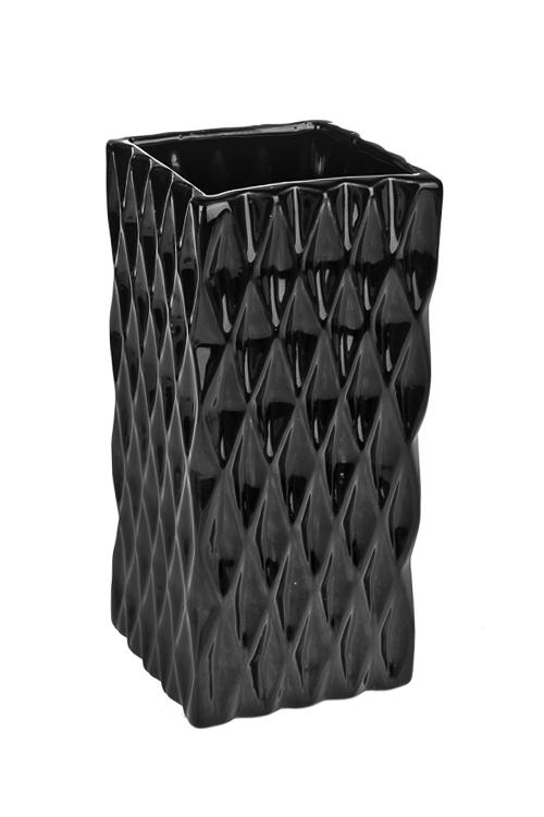 Ваза для цветов ТитанКерамические вазы и кашпо<br>Выс=19.5см, керам., черная<br>