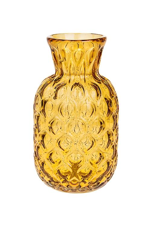Ваза для цветов Счастливый ананасИнтерьер<br>Выс=22м, стекло, желтая<br>