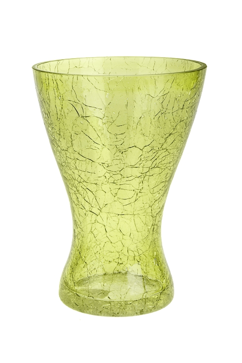 Ваза для цветов АттикусИнтерьер<br>Выс=20см, стекло, зеленая<br>