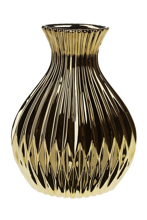 Ваза для цветов БлагоденствиеКерамические вазы и кашпо<br>Выс=30см, керам., золот.<br>