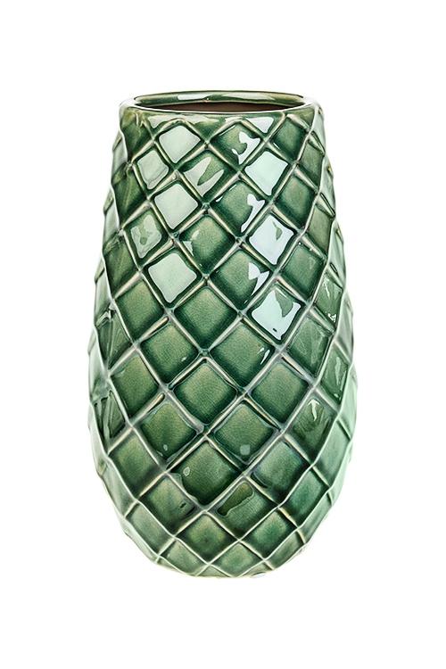 Ваза для цветов МозаикаИнтерьер<br>Выс=25см, керам., зеленая<br>