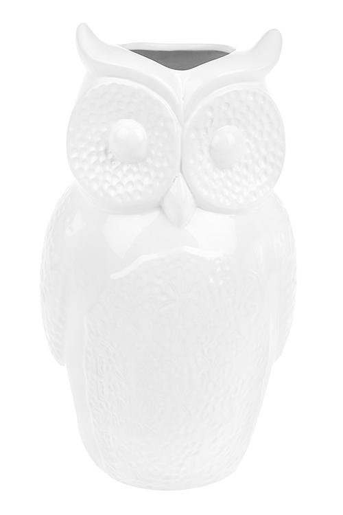 Ваза для цветов Ажурная совушкаКерамические вазы и кашпо<br>Выс=29.5см, керам., белая<br>