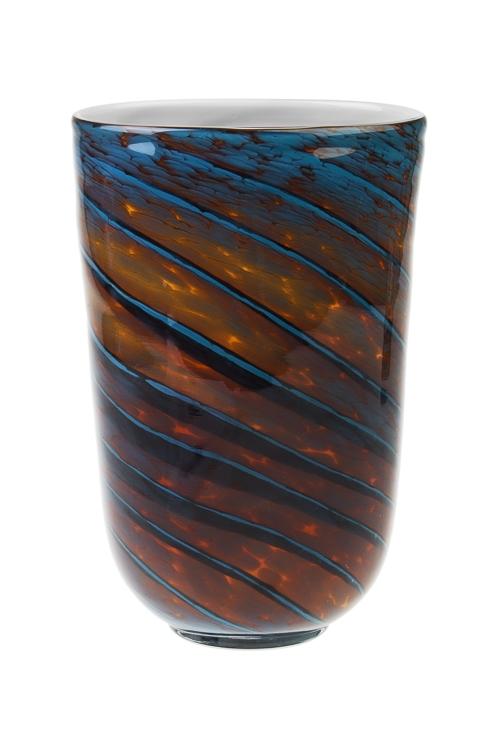 Ваза для цветов ЛагунаСтеклянные вазы и кашпо<br>Выс=28см, стекло<br>