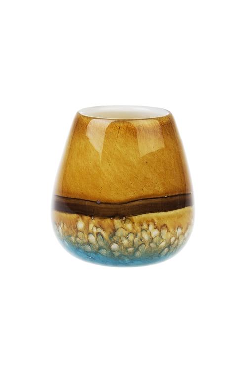 Ваза для цветов Морской приливСтеклянные вазы и кашпо<br>Выс=17см, стекло<br>