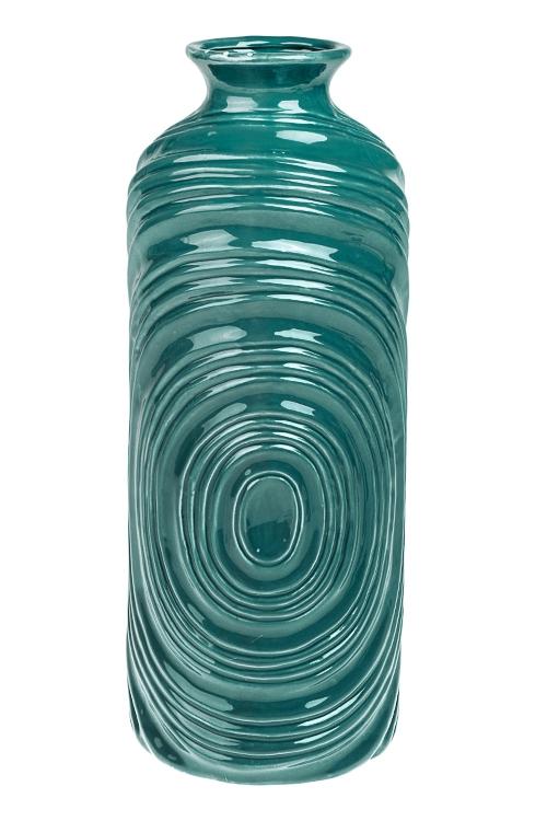 Ваза для цветов ГипнозИнтерьер<br>Выс=36см, керам., изумрудная<br>