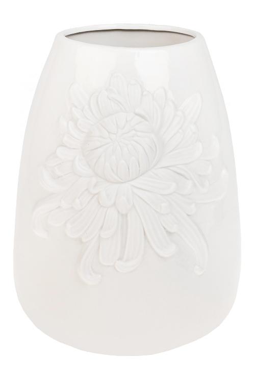 Ваза для цветов ПионКерамические вазы и кашпо<br>Выс=26см, керам., белая<br>